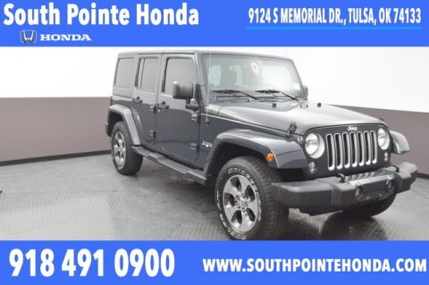 Pre-Owned 2016 Jeep Wrangler Unlimited Sahara 4WD SP Honda 918-491-0100