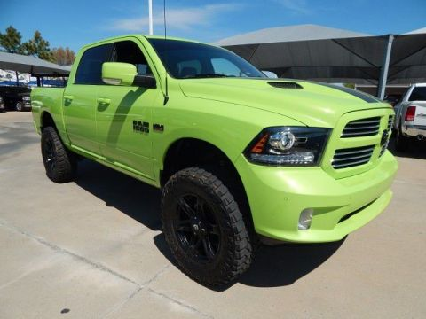 Pre-Owned 2017 Ram 1500 Sport**LIFTED GREEN MONSTER**SP CHEVY 918-481-8000