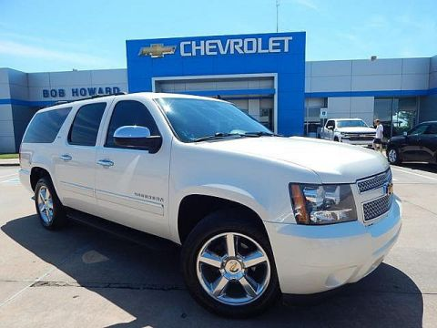 Pre-Owned 2012 Chevrolet SUBURBAN | BOB HOWARD CHEVROLET 405-748-7700 | CLEAN CAR FAX | 4X4 | NAVIGATION | DVD PLAYER | MIDDLE ROW BUCKETS | LEATHER | THIRD ROW | GREAT FAMILY SUV | CHECK IT OUT!!!! |